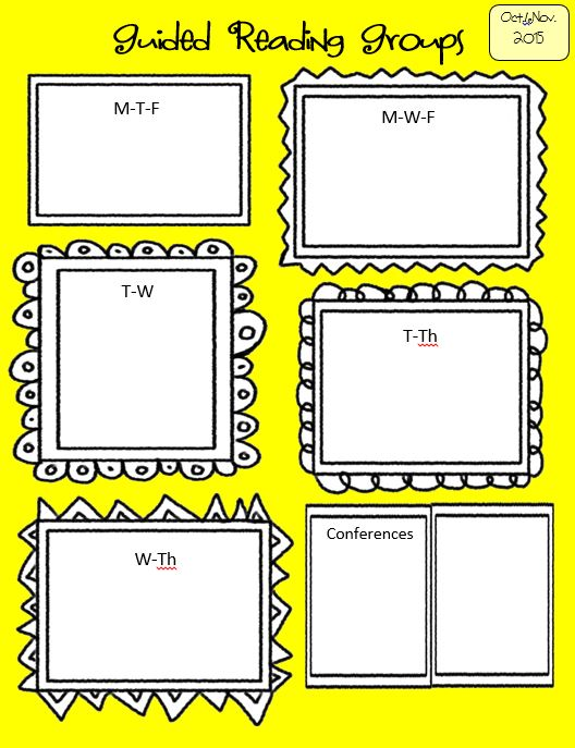 Guided Reading Group Placement Mat