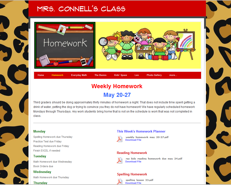 Elementary Classroom Websites ~ Create an impressive class website in under hour