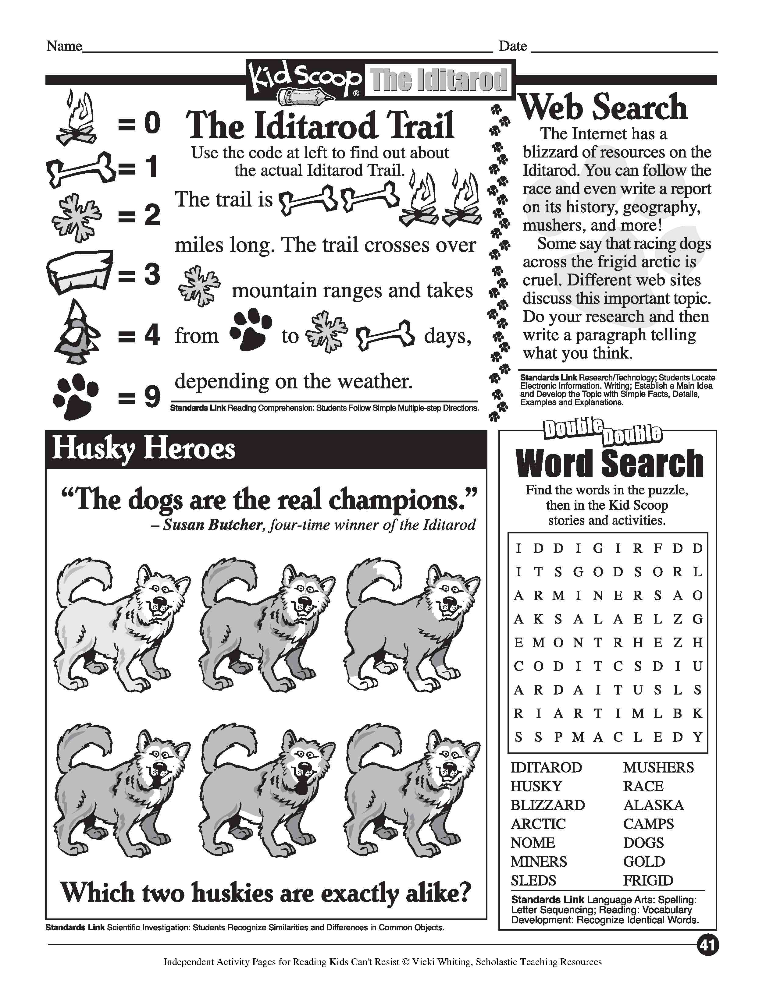 Learn About Sledding Sled Dogs And The Iditarod