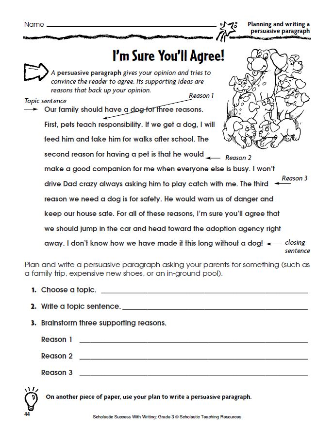 Persuasive writing second grade