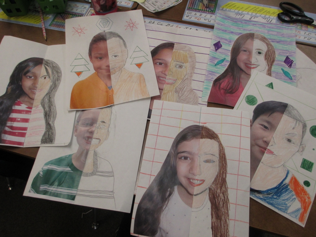 Drawing Lines Of Symmetry Ks : Math meets art symmetry self portraits scholastic