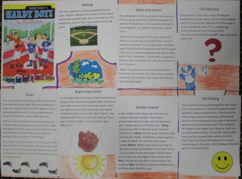 Puzzle piece mystery book report project