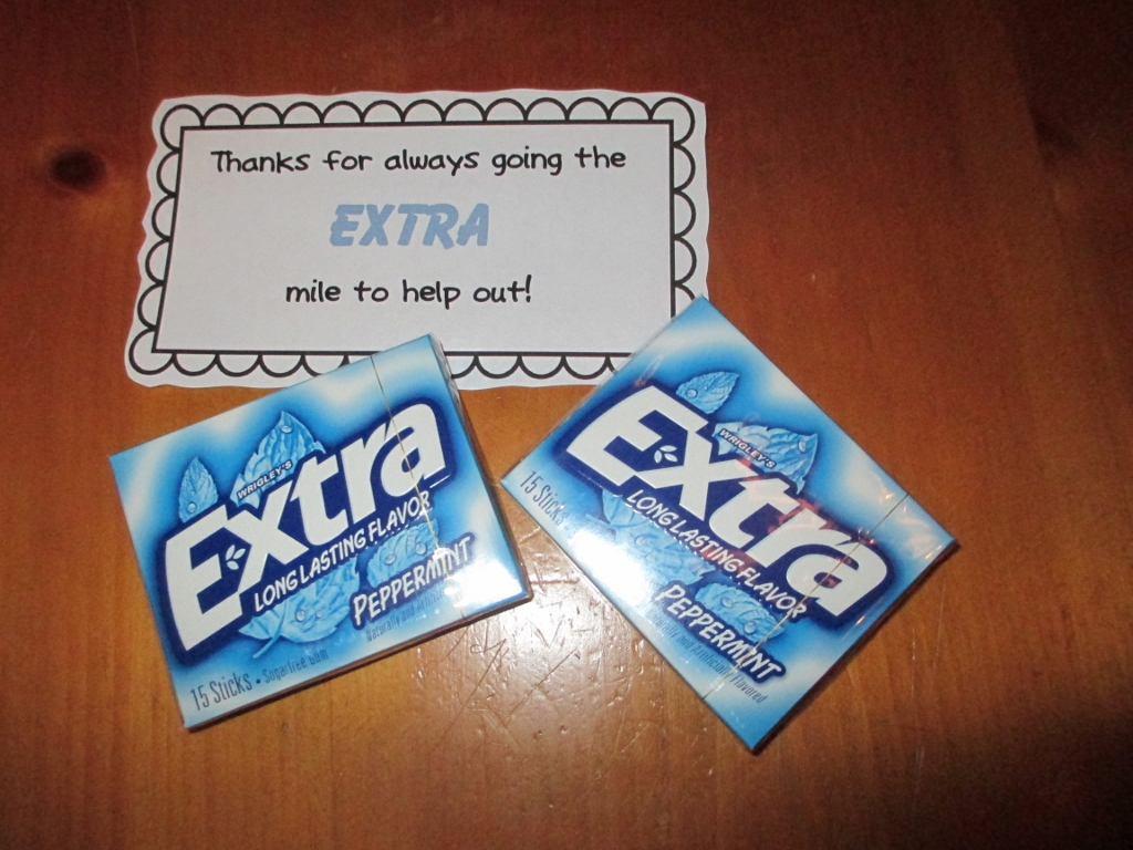picture relating to Thanks for Going the Extra Mile Printable identify Effortless and Straightforward Thank-Oneself Items for Clroom Volunteers