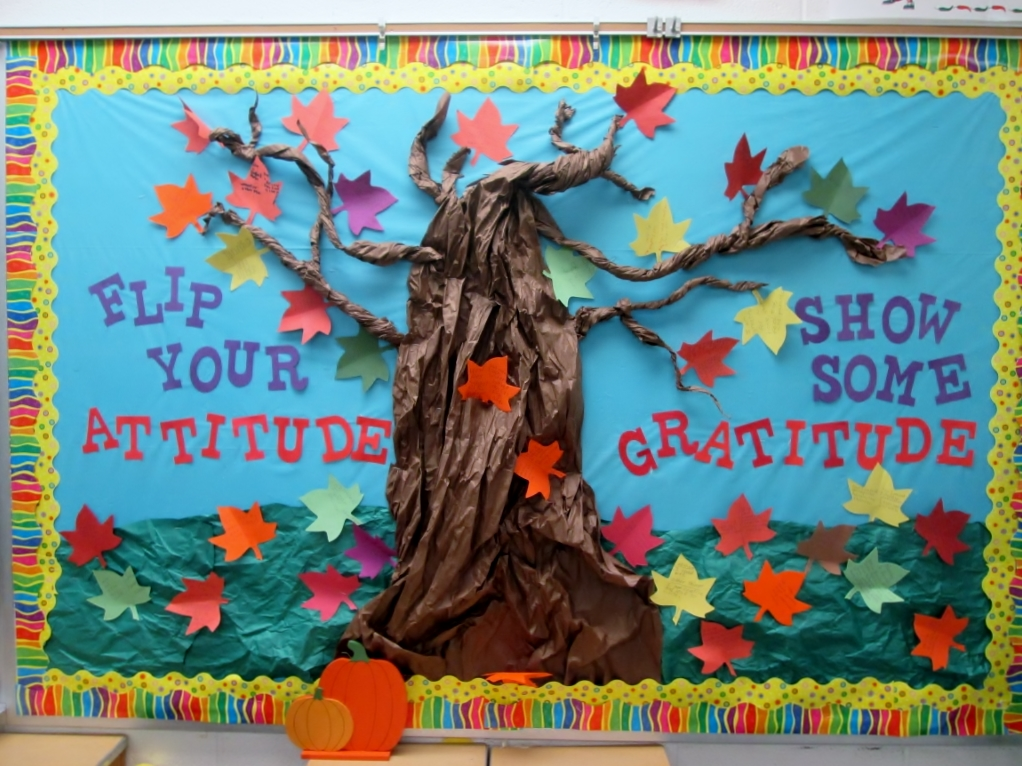charming Thanksgiving School Bulletin Board Ideas Part - 7: gratitude tree