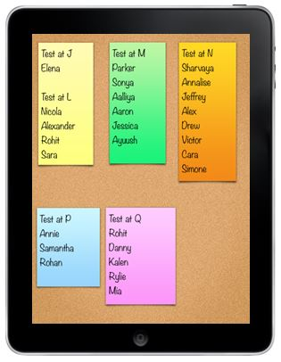 sticky note app with guided reading groups
