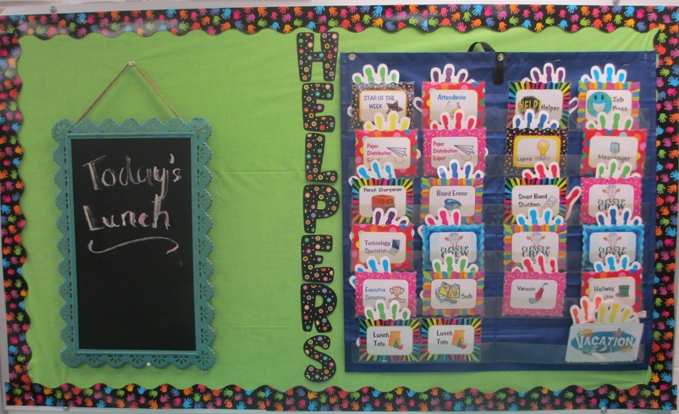 A colorful workplace safety bulletin board safety celebration.