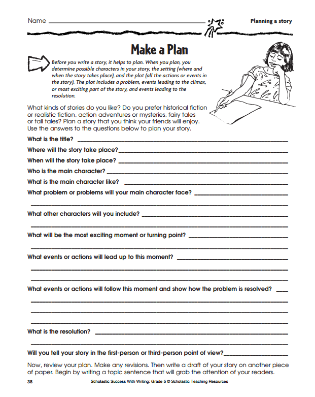 graphic organizers for personal narratives scholastic printables for personal narratives