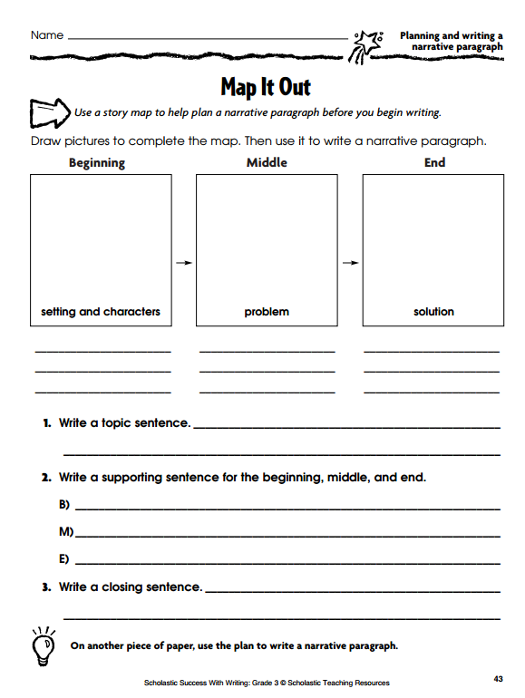 Graphic Organizers For Personal Narratives  Scholastic Map It Out Personal Narrative Organizer