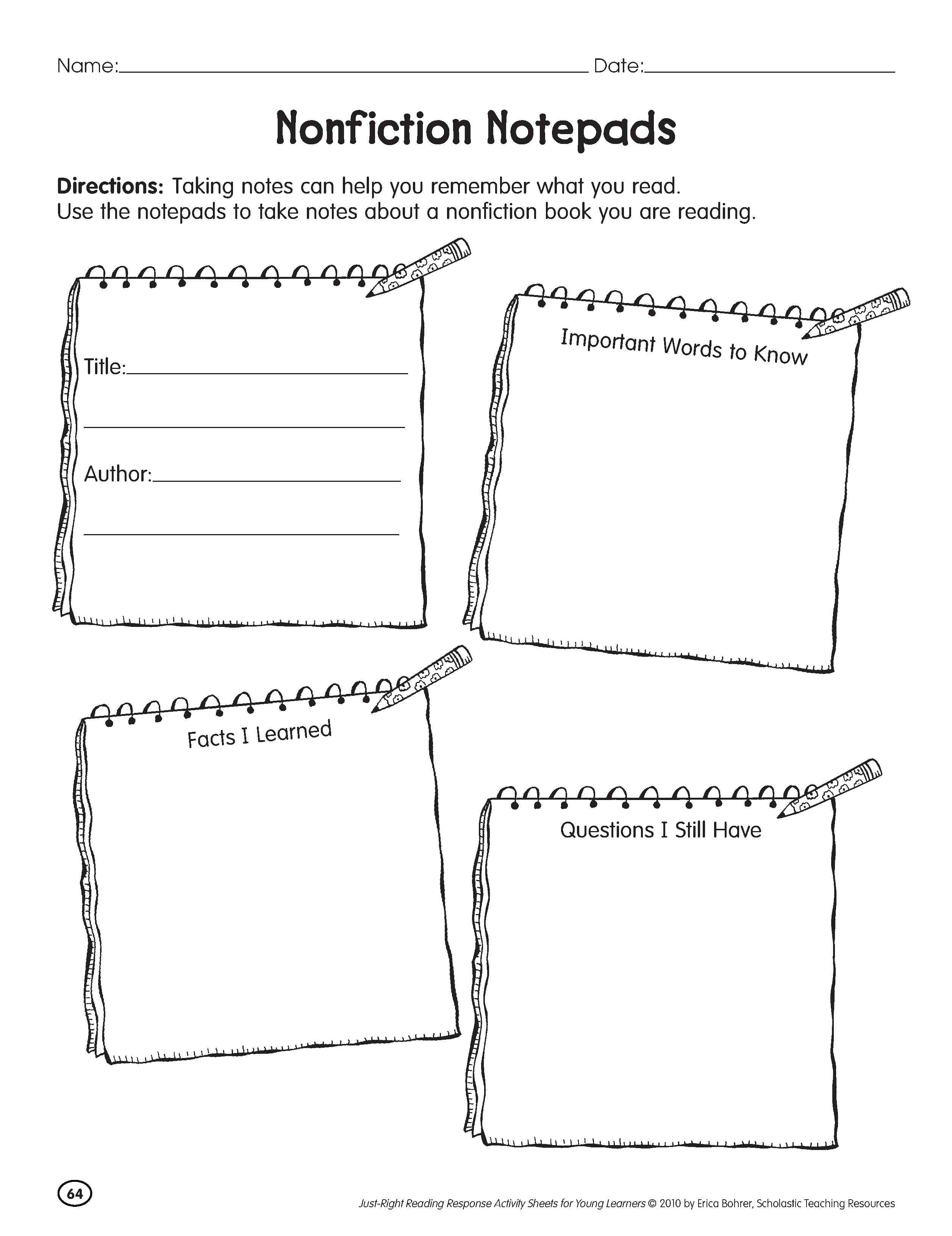 Worksheets Guided Reading Worksheets investigating nonfiction part 3 independent and guided reading using informational text for lessons