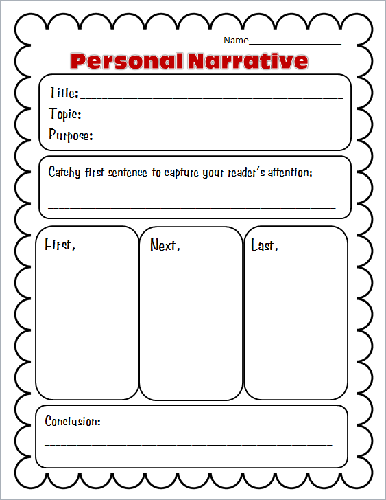 Narrative essays graphic organizer