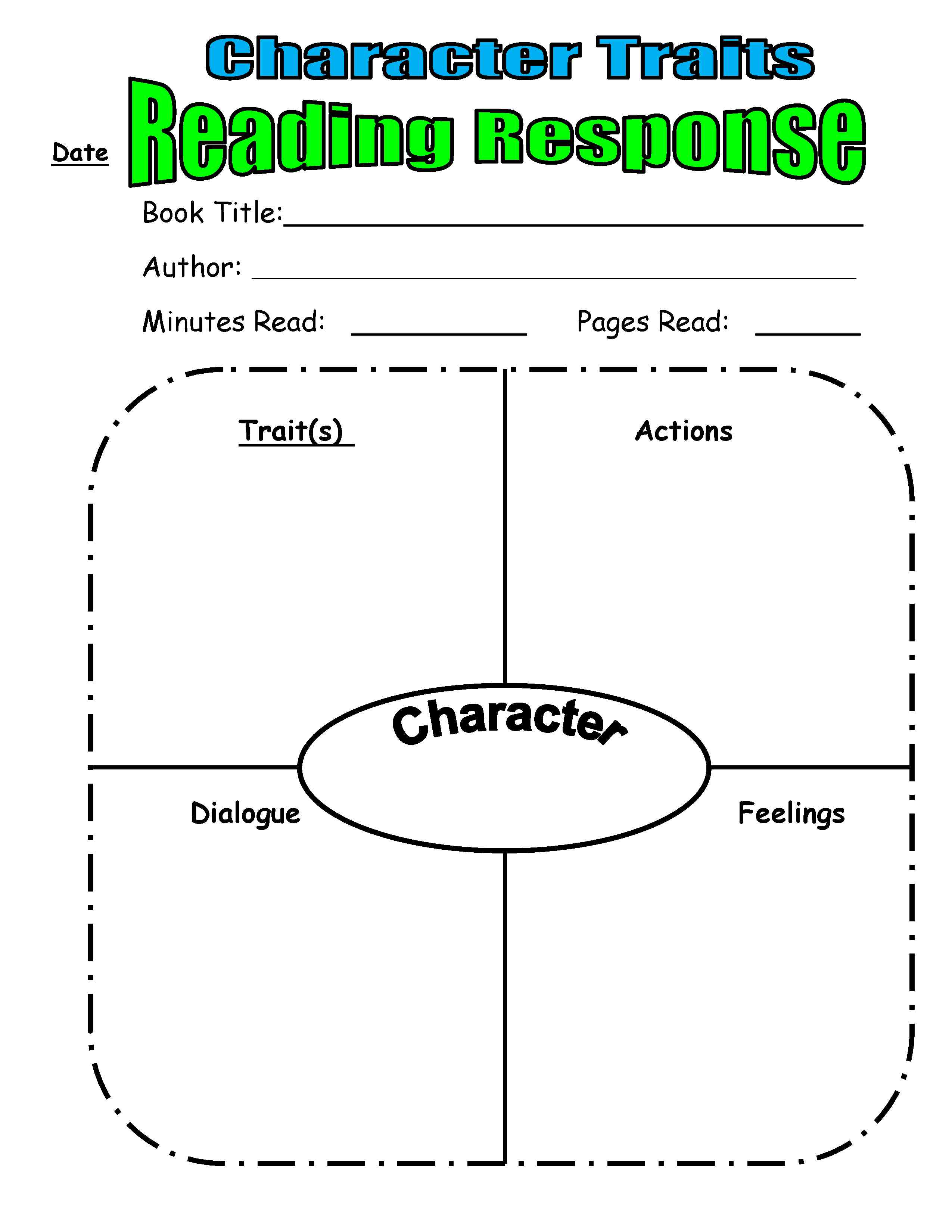 Worksheets Character Trait Worksheet teaching character traits in readers workshop scholastic additional resources