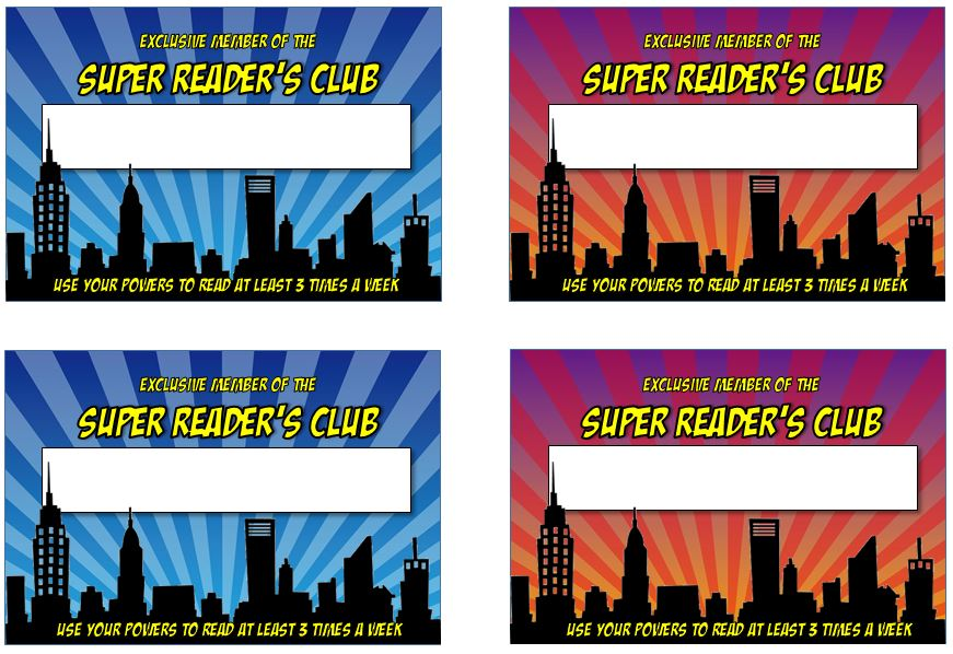 Reading Club Membership cards from Genia Connell at Scholastic Top Teaching