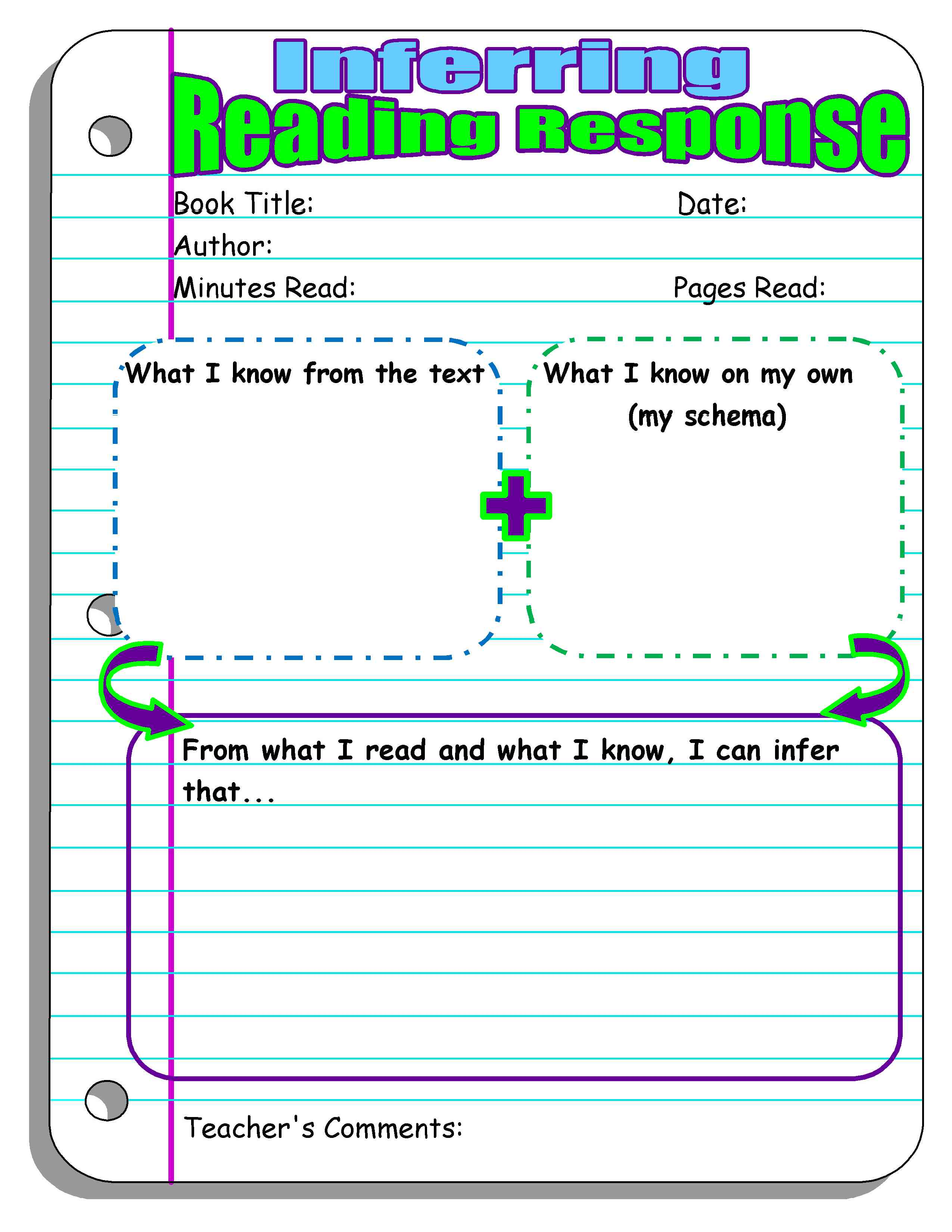 Book Cover Graphic Organizer ~ Reading response forms and graphic organizers scholastic