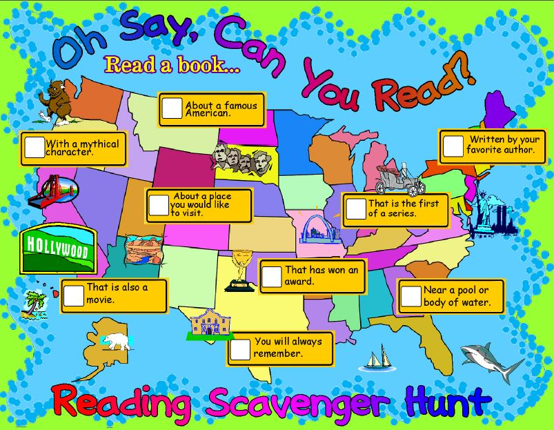 Reading Scavenger Hunt from Genia Connell at Scholastic Top Teaching