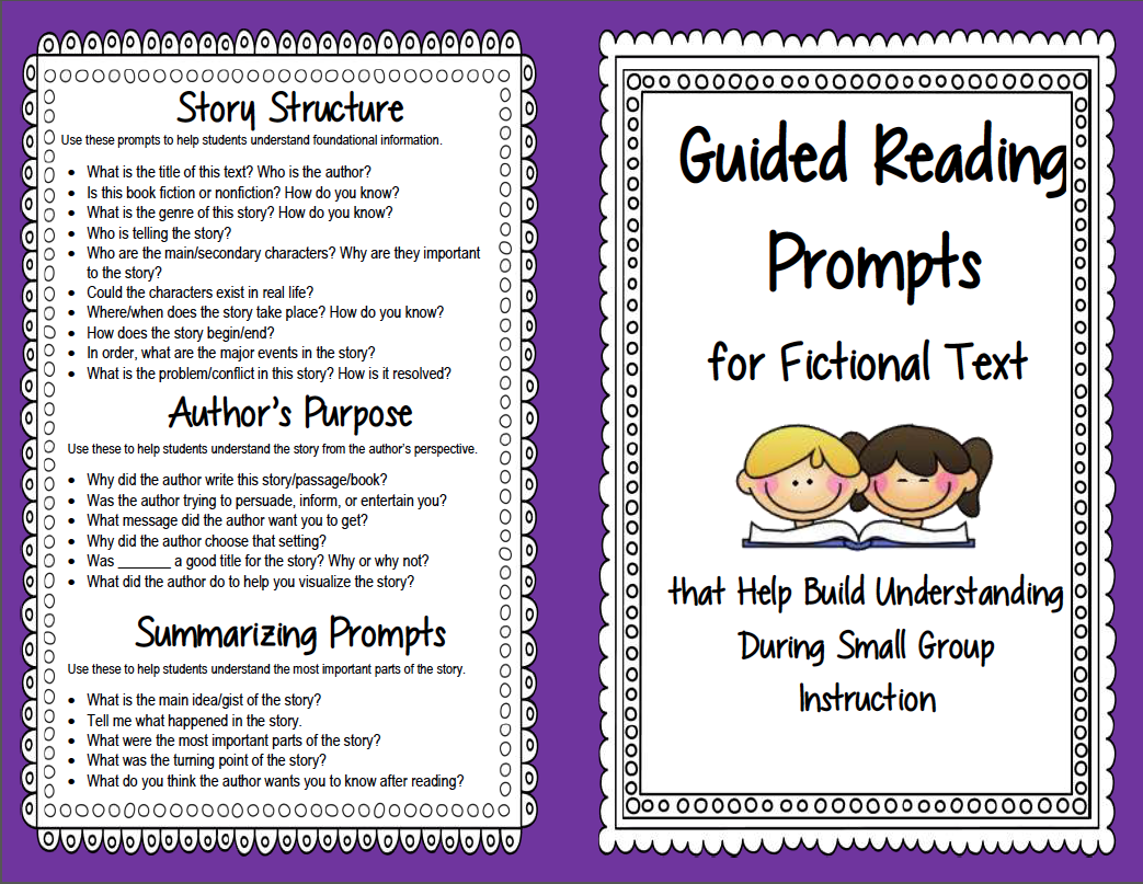 Worksheet Reading Comprehension Questions guided reading prompts and questions to improve comprehension prompt booklet