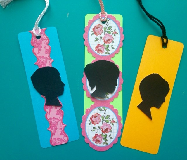 silhouette bookmarks
