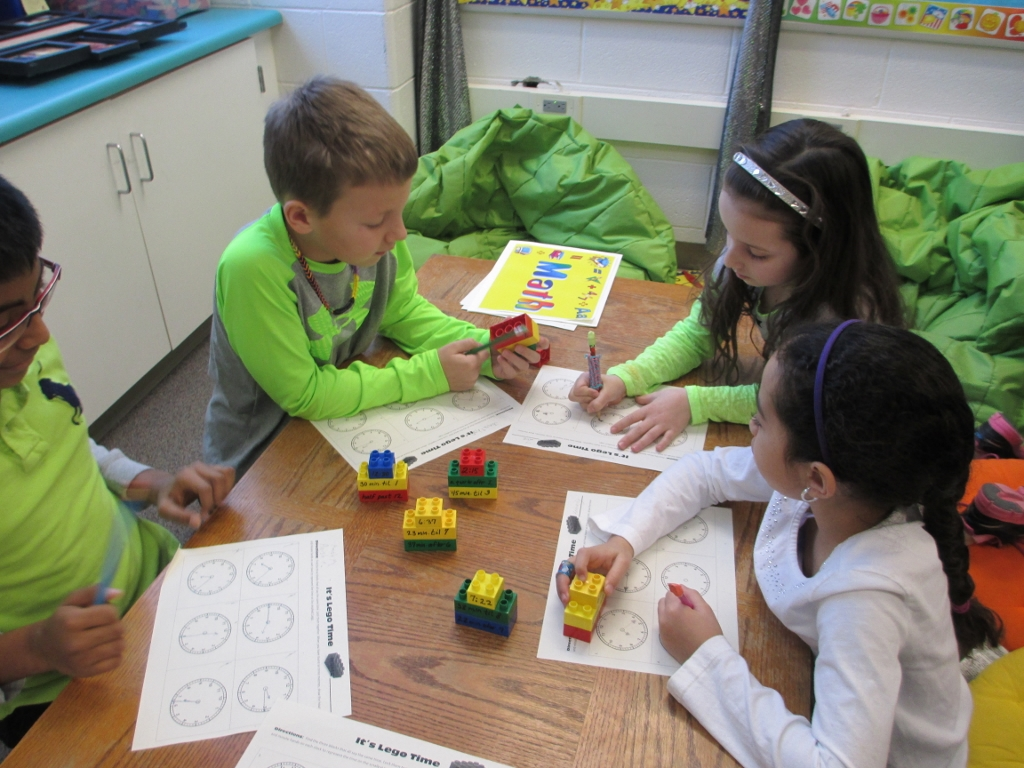 Use LEGOS to practice time concepts