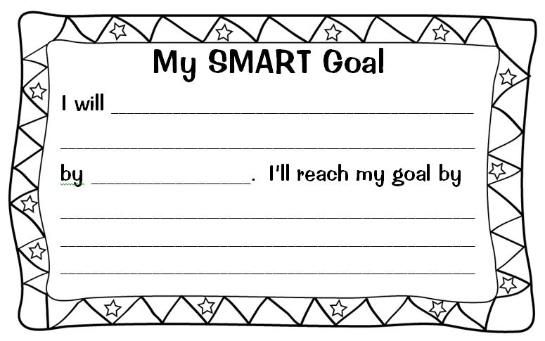 Printables Smart Goals Worksheet For Students setting almost smart goals with my students scholastic goal form for kids
