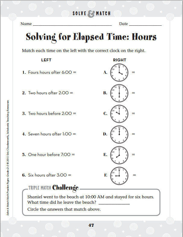 10 Quick Easy And Fun Ways To Practice Time Skills Scholastic. 7 Scholastic Printables. Worksheet. Time Concepts Worksheets At Mspartners.co