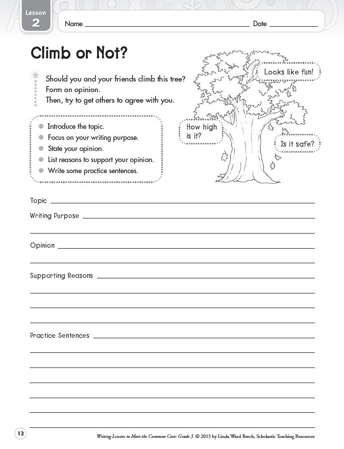 Graphic Organizers for Opinion Writing | Scholastic