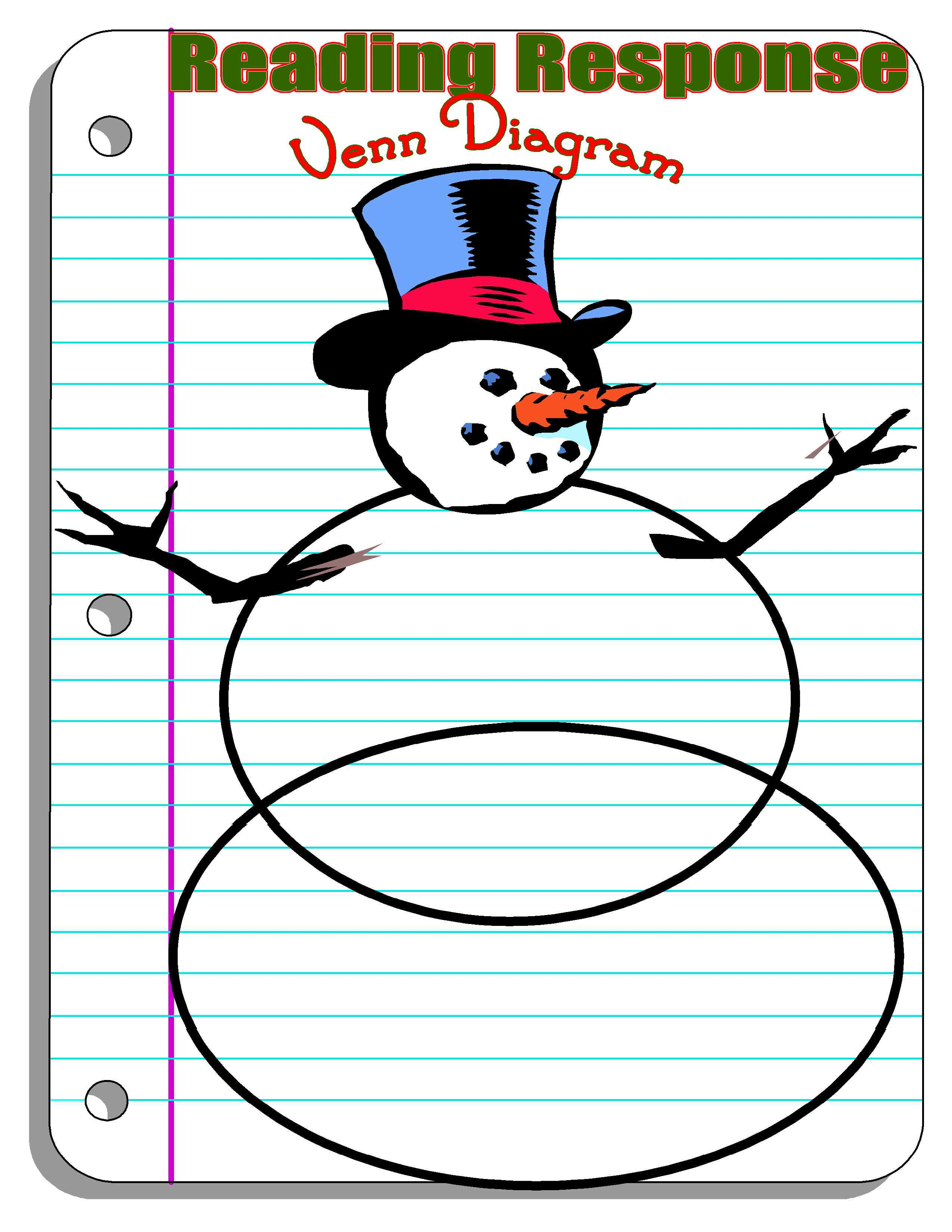 Worksheet Snowman Reading get crafty with your common core reading this holiday season snowman venn diagram