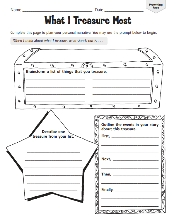 Writing Graphic Organizer Worksheets