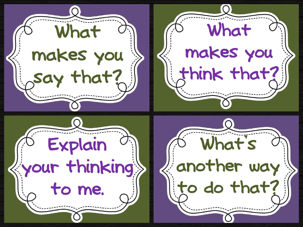 Set of four printable thinking routine posters