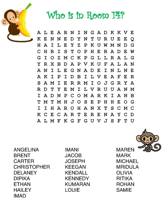 Wordsearch icebreaker