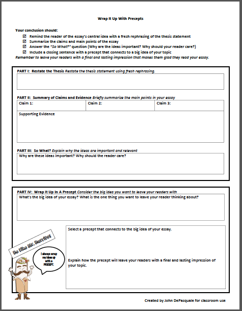 Mic Drop Strategies For Effective Conclusion Writing  Scholastic  A Final And Lasting Impression That Makes The Reader Glad They Read The  Essay Feel Free To Download A Pdf Of The Graphic Organizer For Your Own  Use