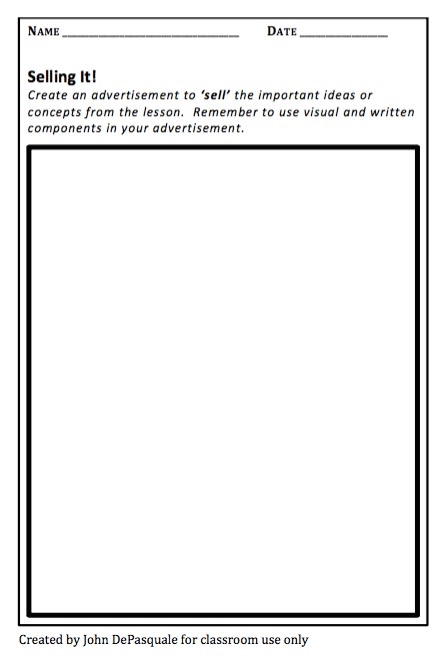 advertisement template for students