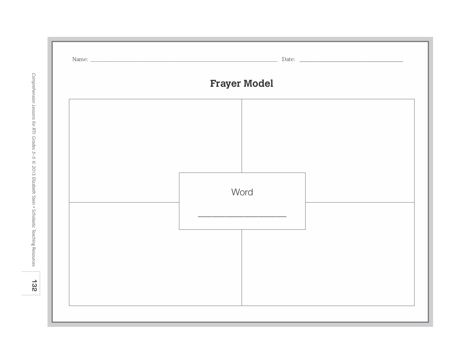 i modified this basic structure by adding a section to the graphic organizer for my students to write a contextual sentence that includes the word