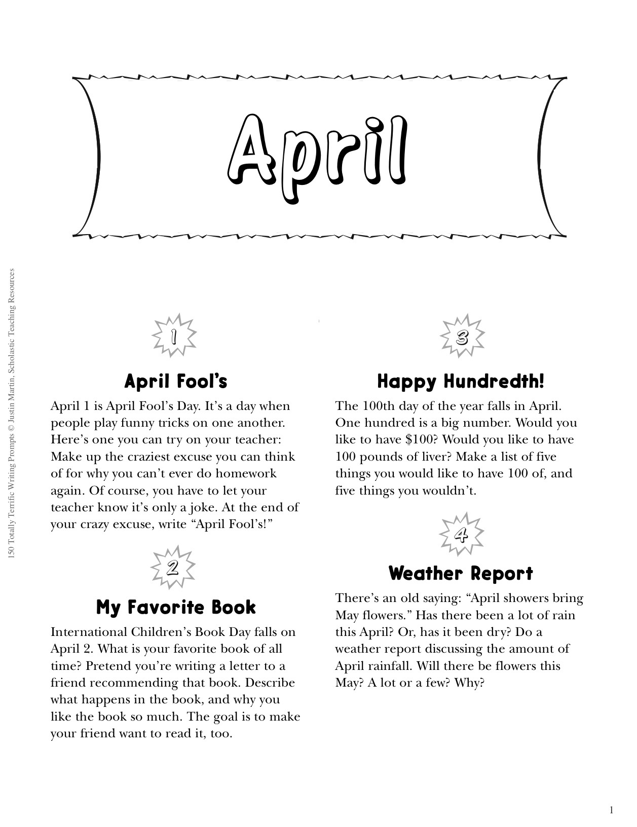 spring writing topics Spring 2012 copyright  the essay represents a very limited writing  performance  most ideas are generally related to the topic specified in the  prompt, but the.