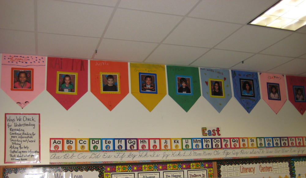 Banners on Classroom Wall