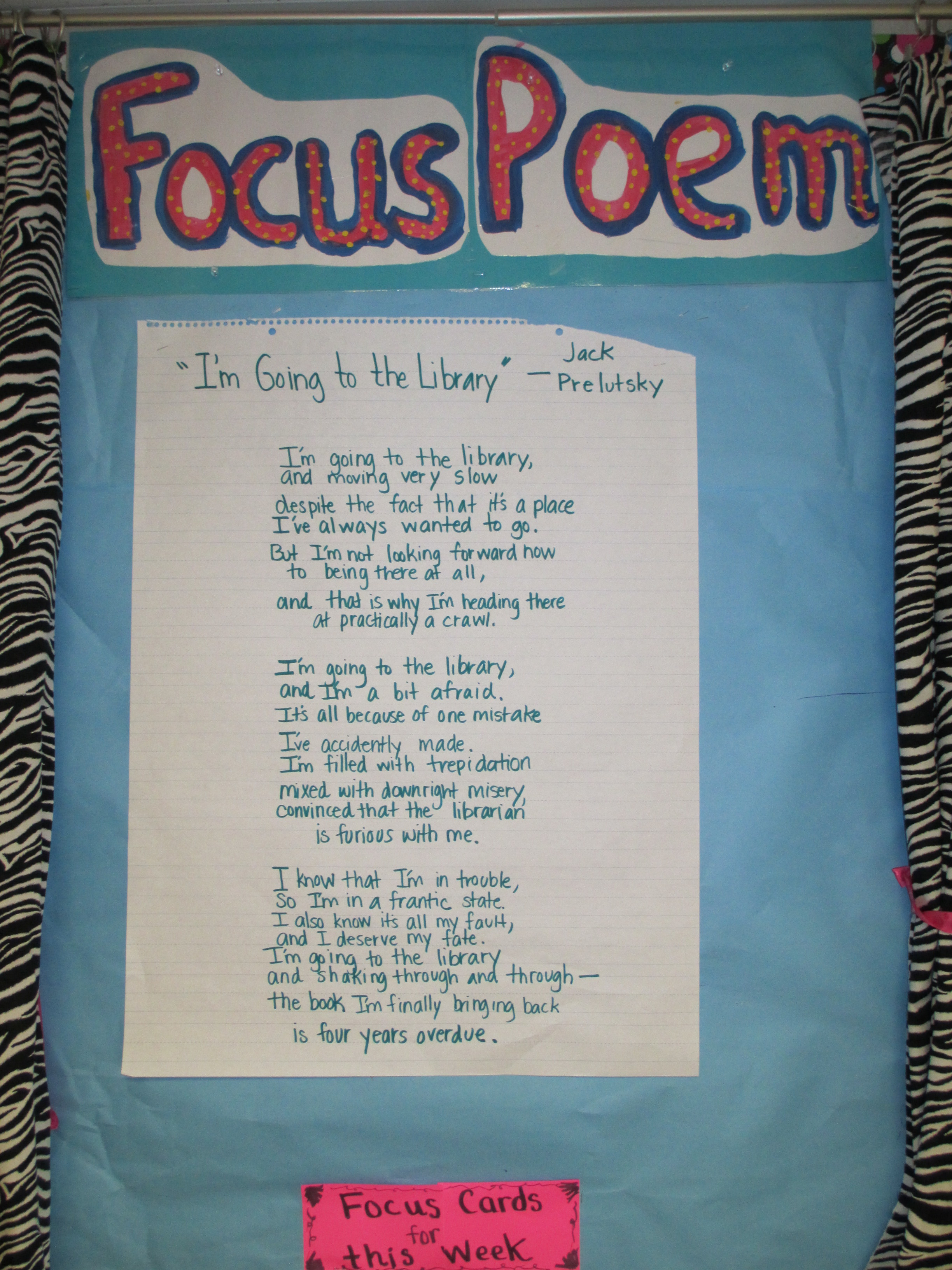 Charted Poem for Focus Poetry