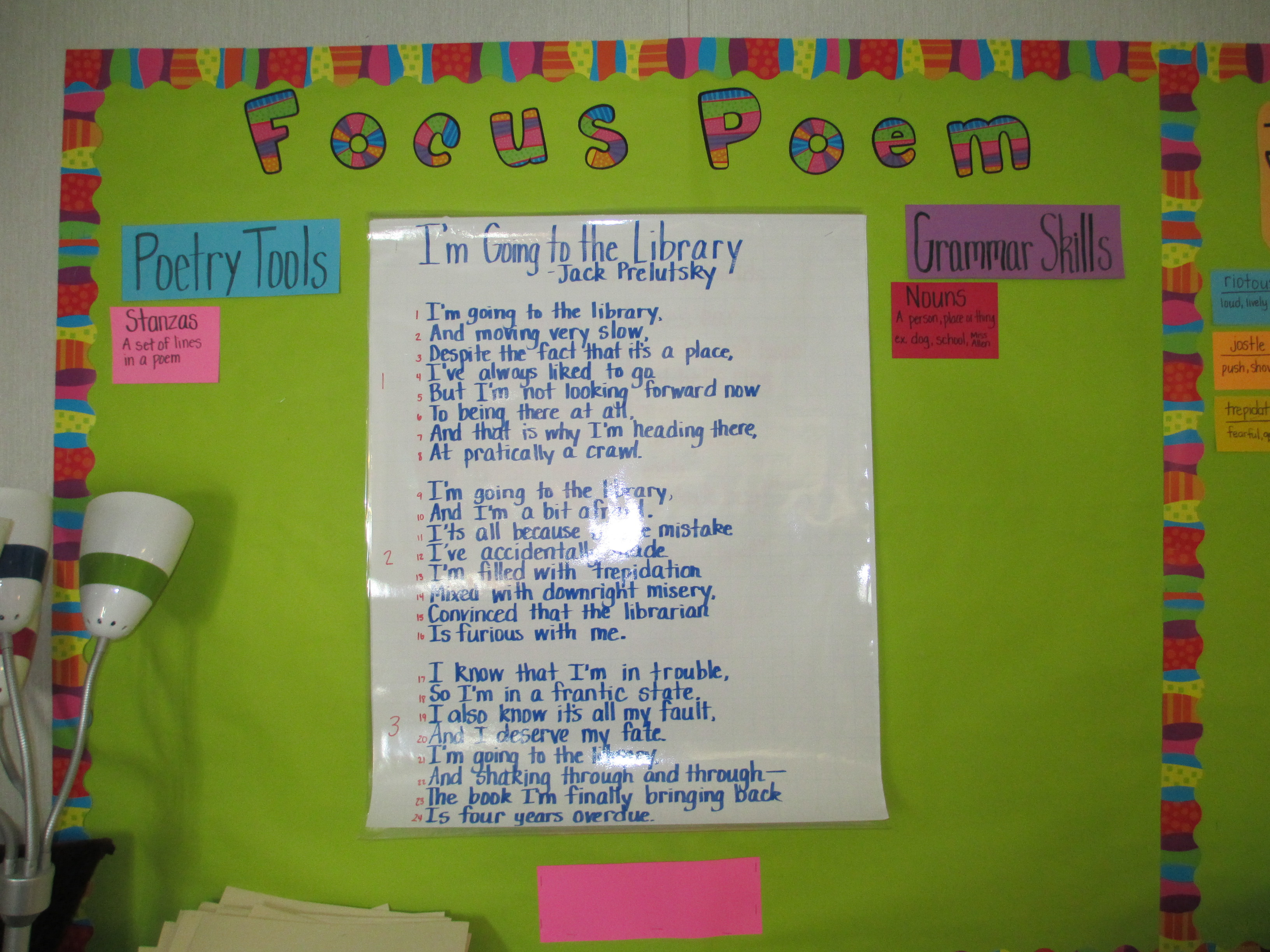 Focus Poetry Wall