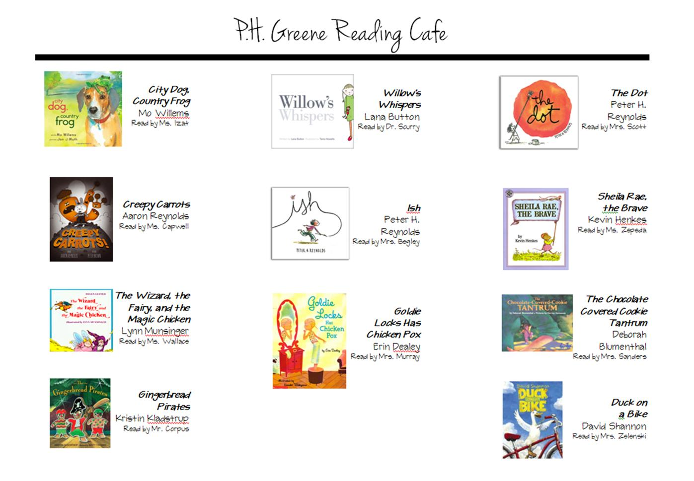 Menu for Reading Cafe