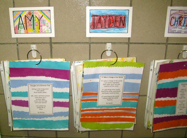 creative student work displays