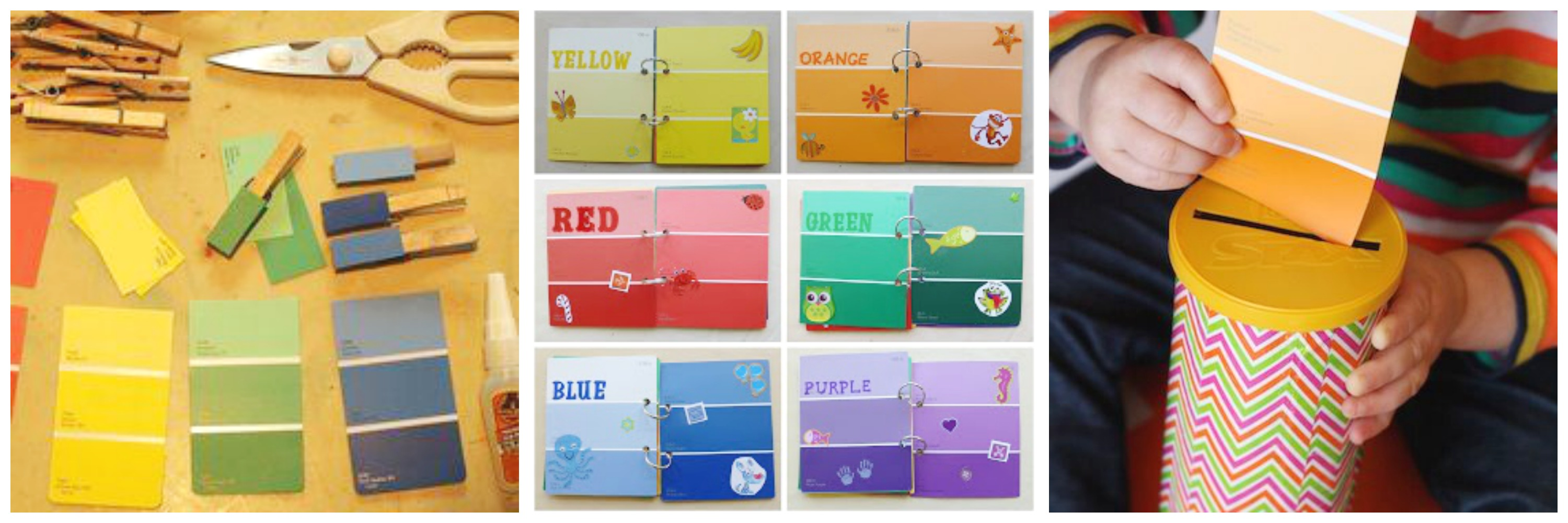 Colour shades activities - Color Concept Book Bind Together Swatches To Create A Color Concept Book Add Pictures Of Items Matching The Colors On Each Swatch