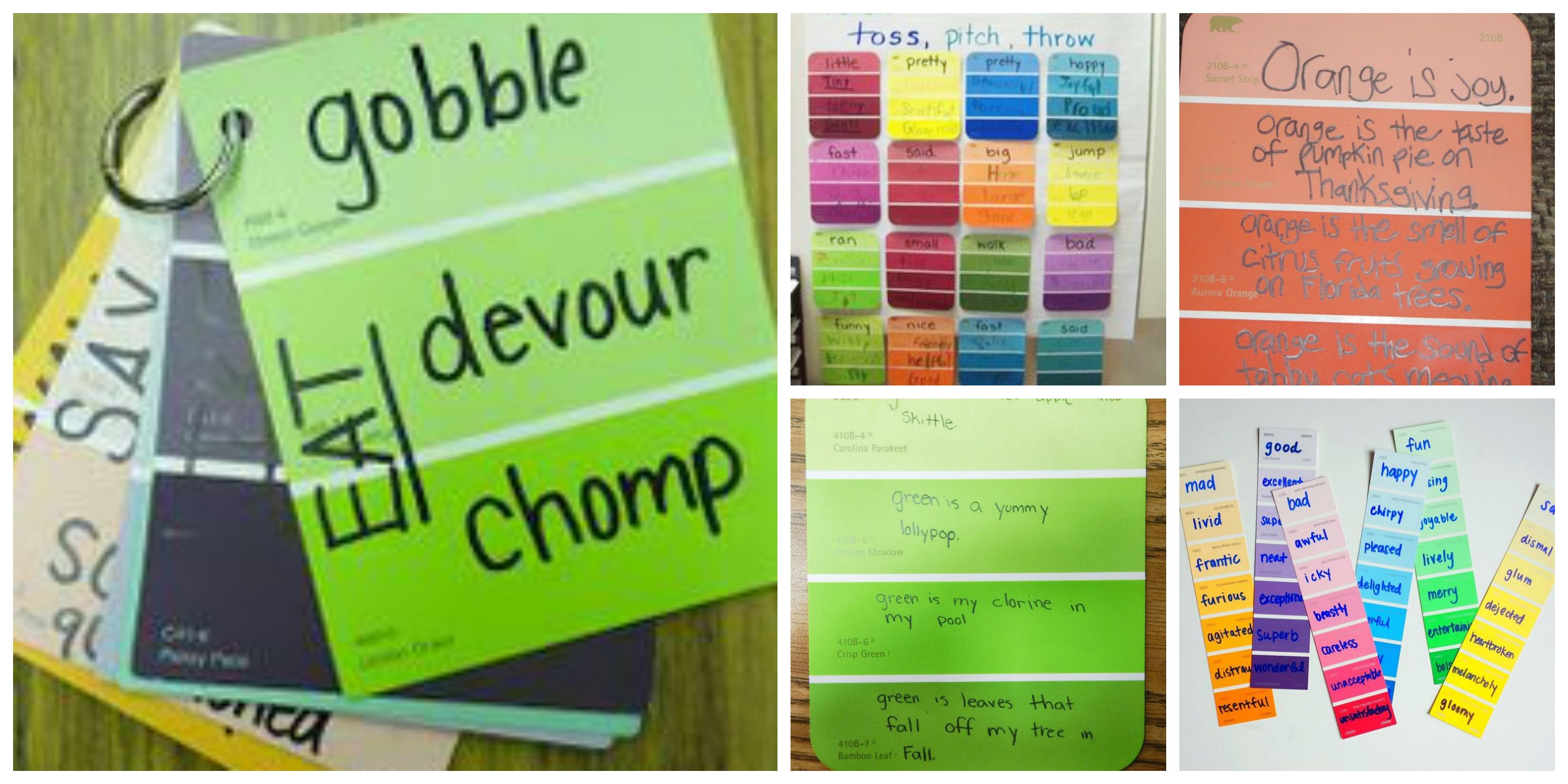 Colour shades activities - Word Work And Figurative Language