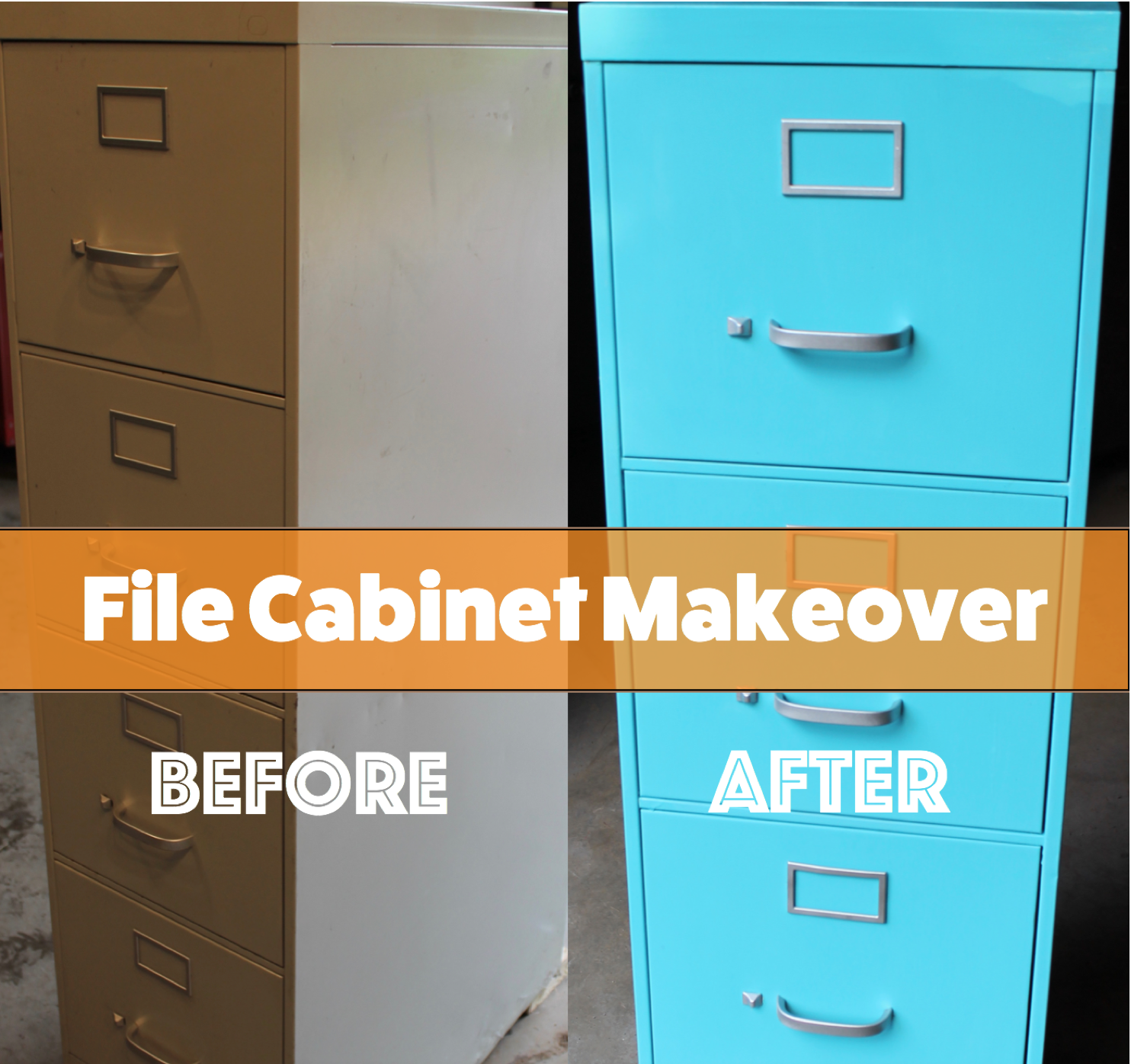 Elegant DIY File Cabinet Makeover