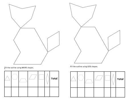 Pre School Worksheets : pattern block fill in worksheets Pattern ...