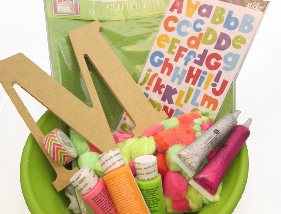 craft themed gift basket