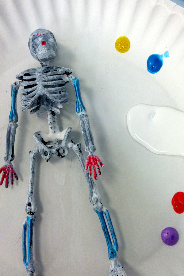 Painted skeleton