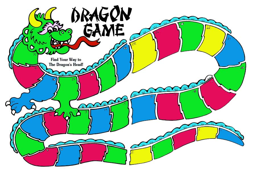 printable dragon gameboard