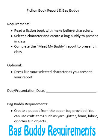 Book Report Requirements