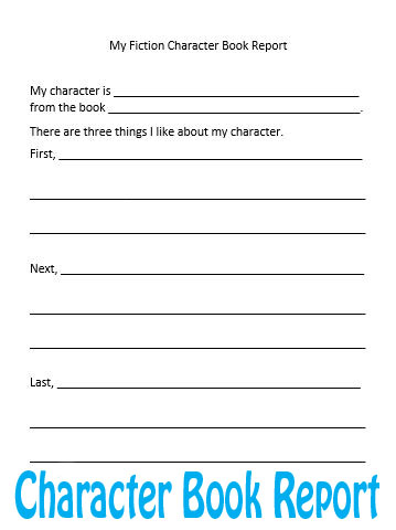 Fiction Character Book Report