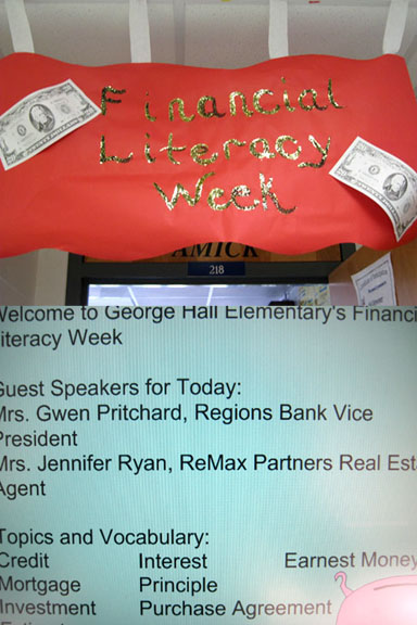 Financial Literacy Week Signs