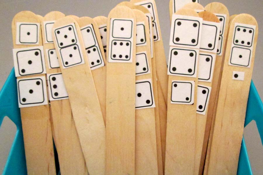 Dice Craft Sticks