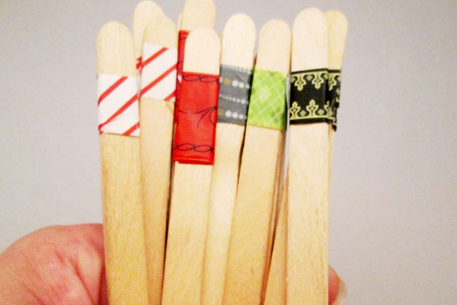 Washi tape sticks