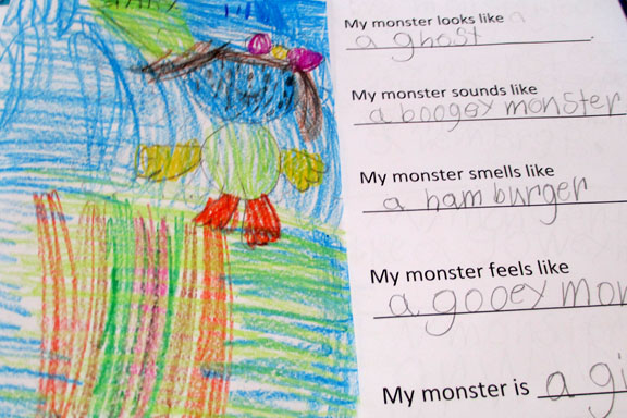 Monster Writing and Drawing